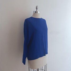 Zara electric blue long sleeve top